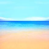 海滩海洋背景 免版税库存照片