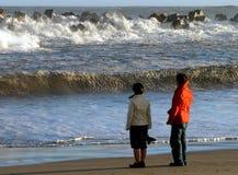 海滩海洋 免版税库存照片