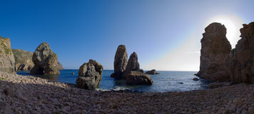 海滩海角roca 免版税库存图片