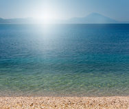 海滩海运星期日 免版税库存图片