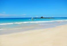 海滩海运视图 免版税图库摄影