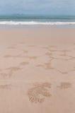 海滩海运 免版税图库摄影