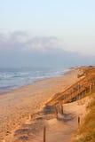 海滩清早 库存照片