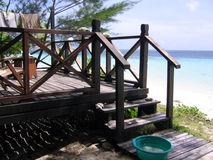 海滩游廊 免版税库存图片