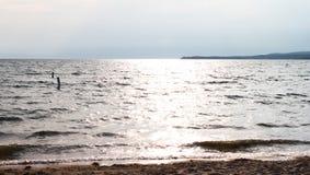 海滩湖 免版税库存图片