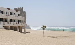 海滩漫步 库存图片