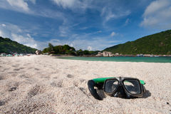 海滩潜水屏蔽 免版税图库摄影