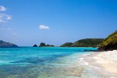 海滩热带冲绳岛的天堂 免版税库存照片