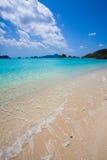 海滩热带冲绳岛的天堂 免版税库存图片