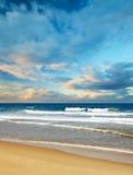 海滩热带横向的海浪 图库摄影