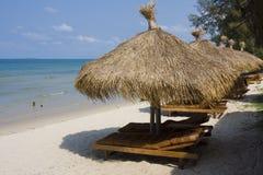 海滩热带的柬埔寨 库存照片