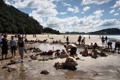 海滩热水 库存照片