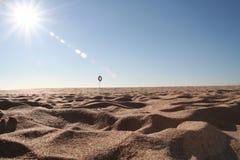 海滩热沙子 免版税库存照片