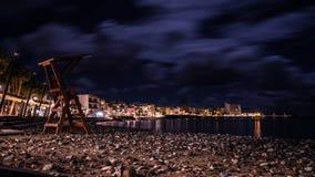 海滩照片在Arinaga,加那利群岛 免版税库存照片