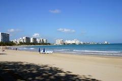 海滩照片波多里哥 免版税库存图片