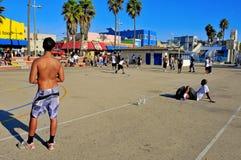 海滩状态团结了威尼斯 库存照片