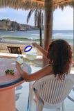 海滩玛格丽塔酒 库存照片
