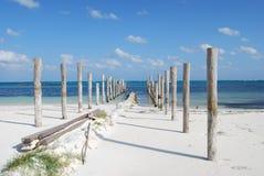 海滩玛雅里维埃拉 免版税库存图片
