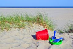 海滩玩具 免版税库存图片