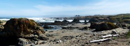 海滩玻璃全景 免版税图库摄影