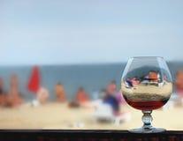 海滩玻璃海运 库存图片
