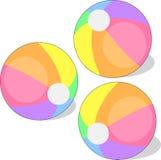 海滩球和使用球哄骗球,滑稽的球儿童球 库存例证