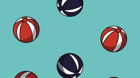 海滩球背景HD动画 库存例证