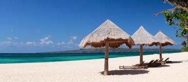 海滩理想的热带假期 库存照片
