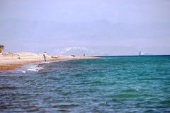 海滩生活方式在埃及 免版税图库摄影