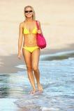 海滩生活方式夏天 免版税库存照片