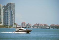 海滩生活方式迈阿密视图 库存照片
