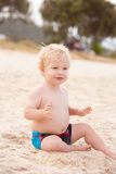 海滩男孩一点 库存图片