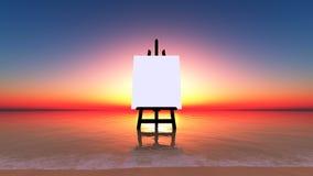海滩画布 库存图片