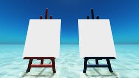 海滩画布 免版税库存图片