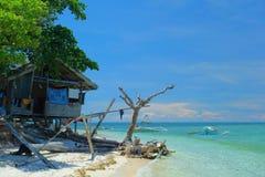 海滩的之家 免版税图库摄影