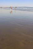 海滩的人们 库存照片