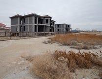 海滩的未完成的房子 免版税库存图片