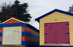 海滩的海滨别墅 库存图片