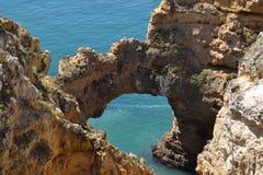 海滩的看法在葡萄牙 库存图片