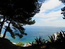 海滩的美丽的景色 免版税库存图片