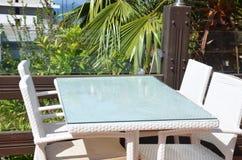 海滩的美丽的自助食堂, 免版税库存照片