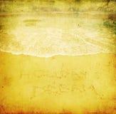 海滩的Grunge图象 库存例证