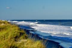 海滩的Magnificant海景北卡罗来纳 免版税库存照片