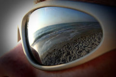 海滩眼睛视图 免版税库存照片