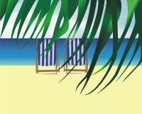 海滩睡椅休息室 皇族释放例证