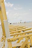 海滩睡椅佛罗里达迈阿密 免版税库存照片
