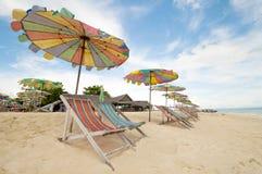 海滩睡椅普吉岛泰国 库存照片
