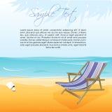 海滩睡椅海运 皇族释放例证
