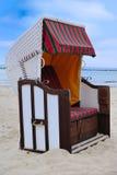 海滩睡椅strandkorb 免版税库存图片