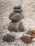 海滩石头 库存图片